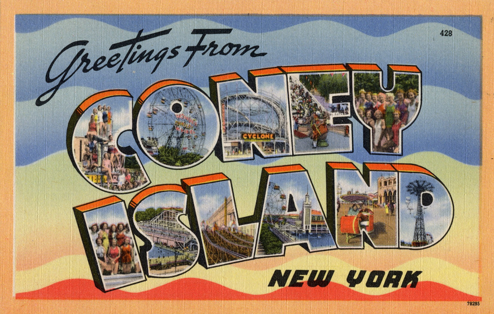 Greeting from coney island new york large letter postca flickr greeting from coney island new york large letter postcard by shook photos m4hsunfo