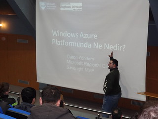 Daron Yöndem Windows Azure sunumunda | by Fatih Boy