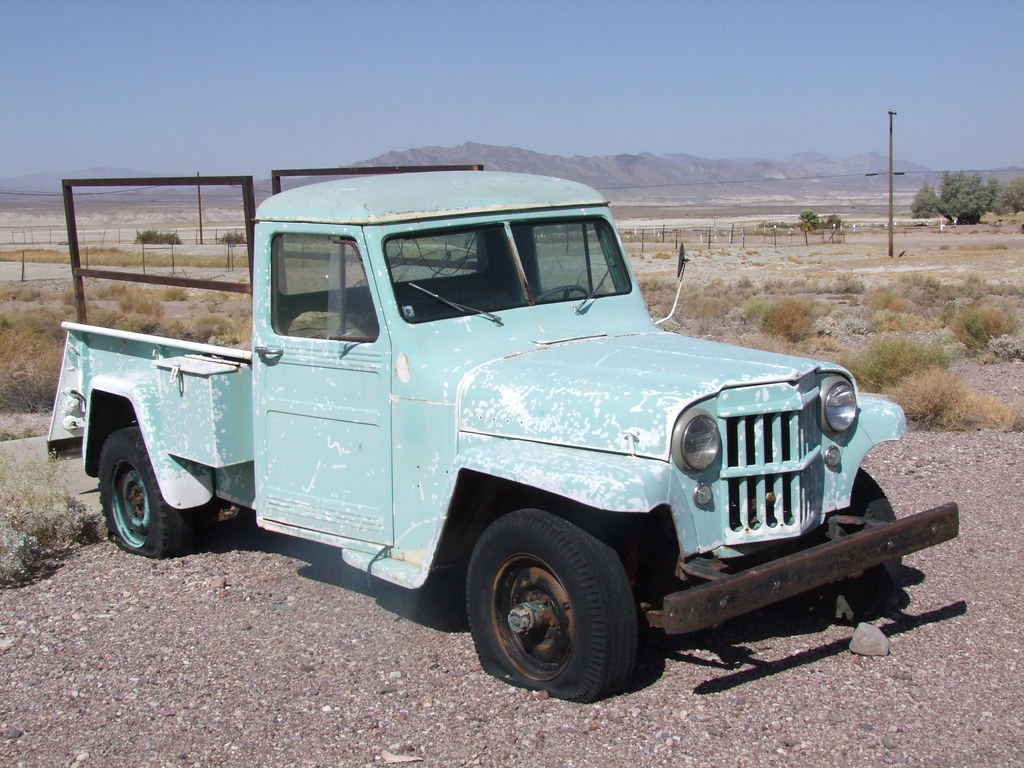 Willys Jeep 4 73 Pick Up 1950 53 Abandonne Dans Le Dsert Flickr By Chrispit1955