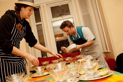 Carrine & The Hungry Cyclist - Ceviche Supper Club 2011 | by The Hungry Cyclist