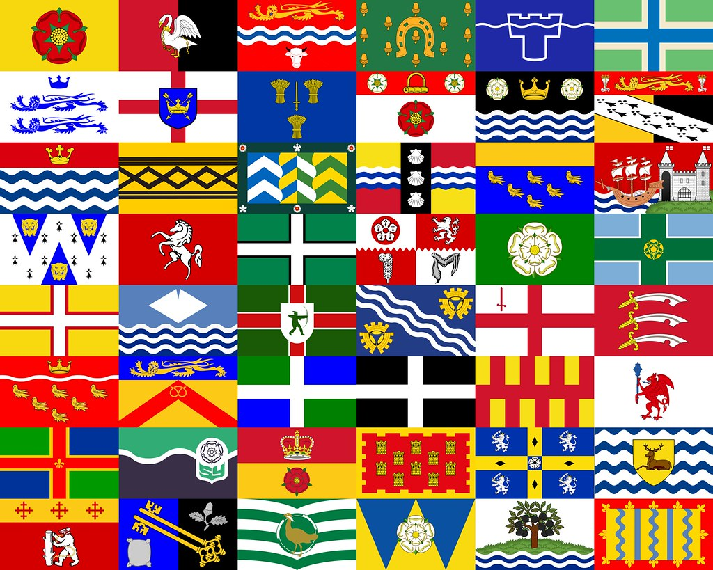 Flag gallery british county flags -  The County Flags Of England By The_virgo
