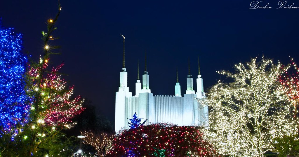temple of lights mormon temple washington dc by dpbirds - Christmas Lights In Dc