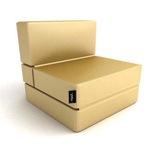 Puff cama convertible dorado al concepto de decoraci n - Puff cama convertible ...