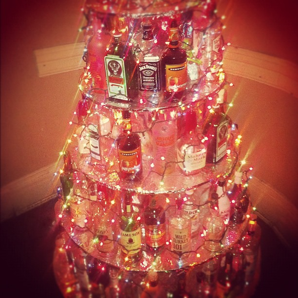 liquor bottle christmas tree johnny juice flickr