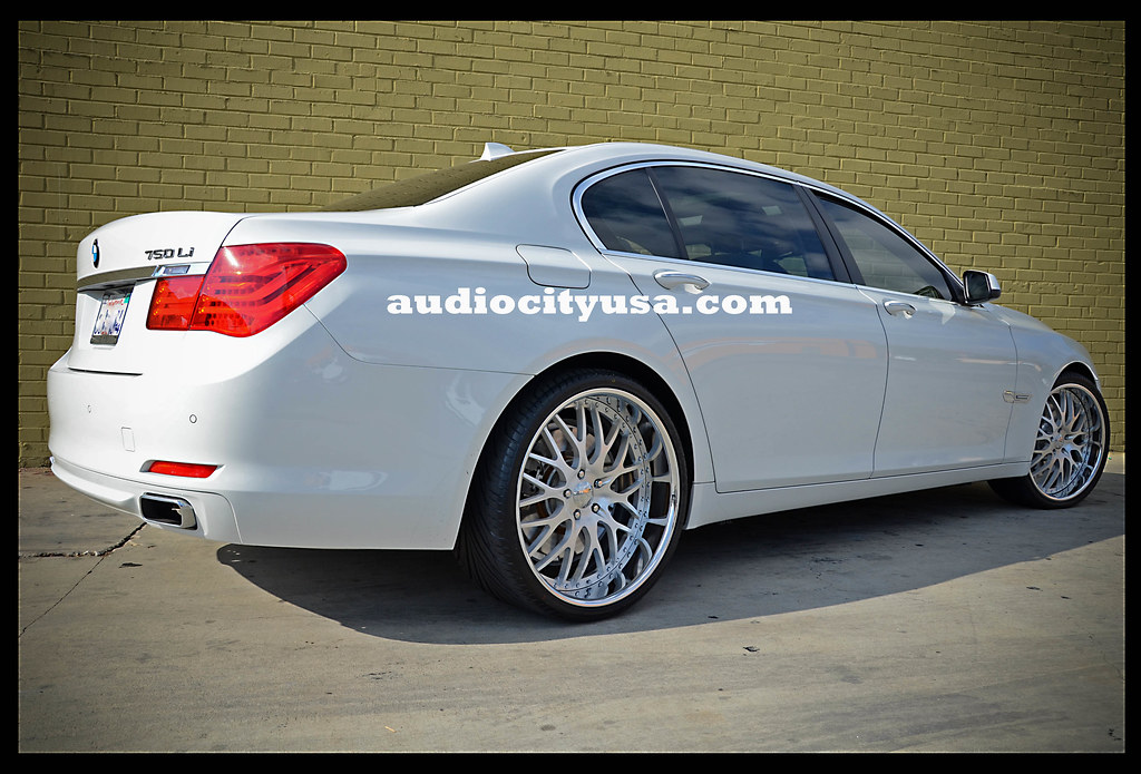 22 AC Forged 313 Brushed Face Chrome Lip On 2011 BMW 750