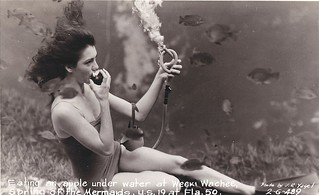 1940s weeki wachee mermaid postcard | by EllenJo