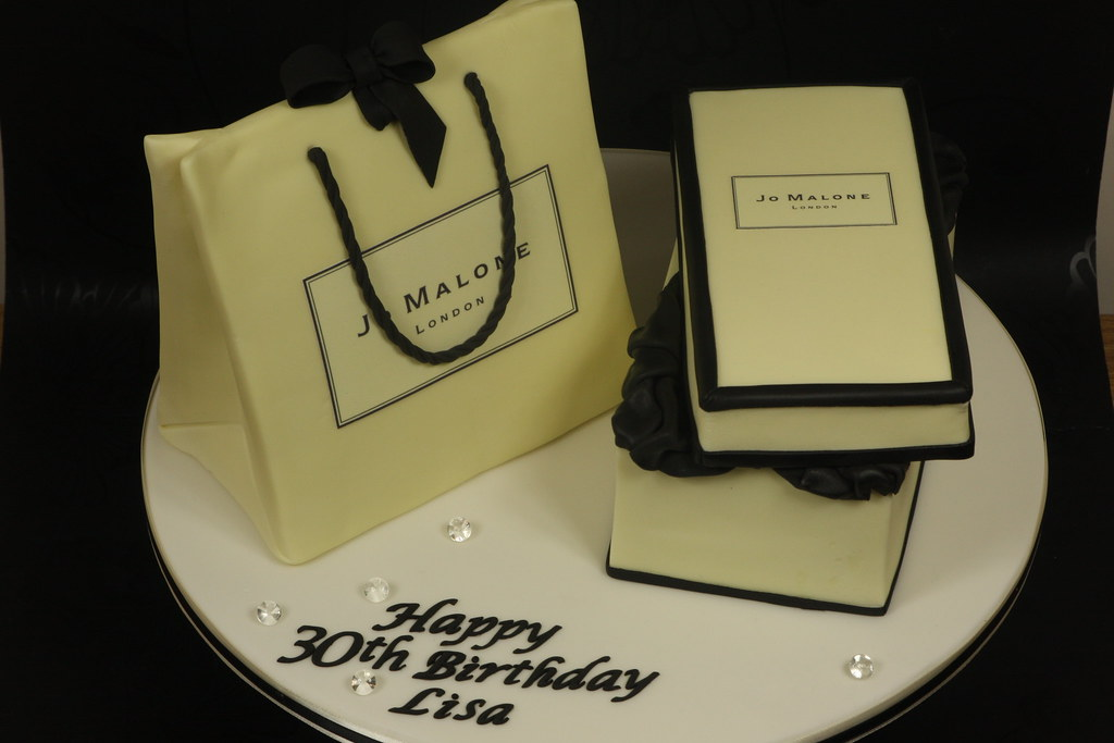 Jo malone gift box and gift bag cake this is for my step d flickr jo malone gift box and gift bag cake by kingfisher cakes negle Images