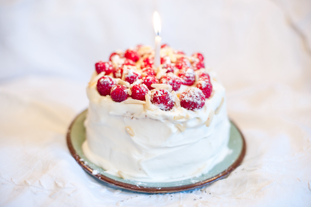 Raspberry Almond Birthday Cake Daily Photo Project Our 3 Flickr