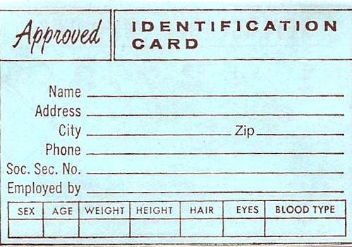Vintage Wallet Insert: Identification Card (Approved) | Flickr