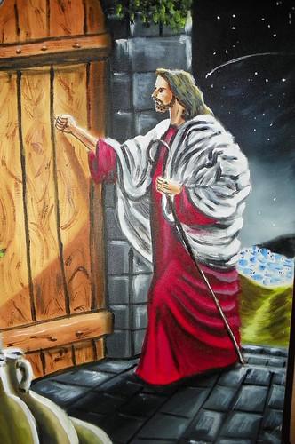 Jesus bate a porta quadro 40x60 carlos antonio maimoni for Jesus a porta