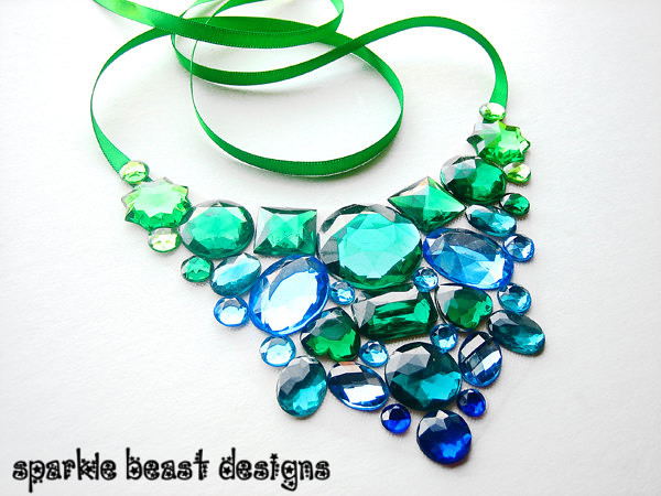 necklace green statement for l bride and fit blue a