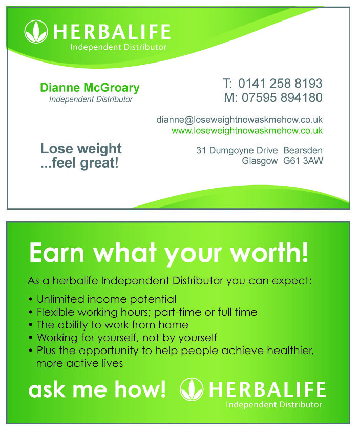 Herbalife business card - Dianne McGroary | Print Graphic De… | Flickr