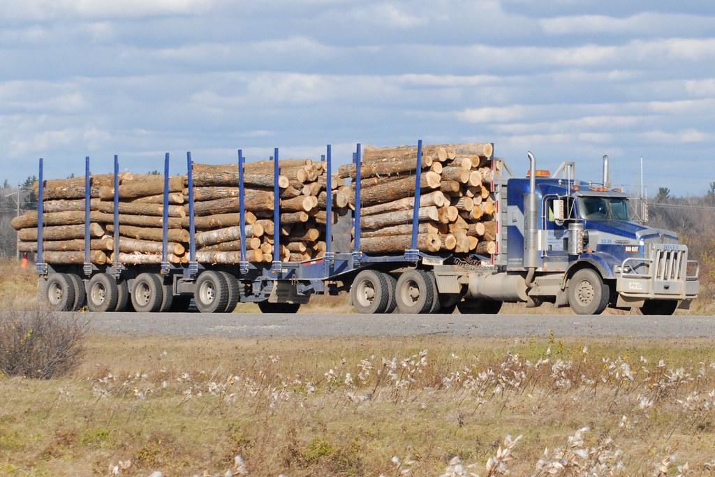 Kenworth T-800 Log truck and 4 axle trailer Ottawa, Ontari… | Flickr