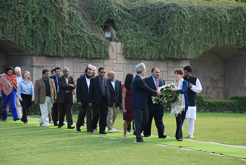 Martin Luther King III at Rajghat | by U.S. Embassy New Delhi