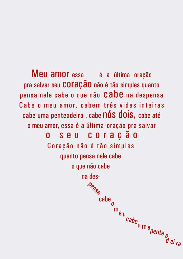 Cabe O Meu Amor Composição Tipográfica Feita Com A Letra Flickr