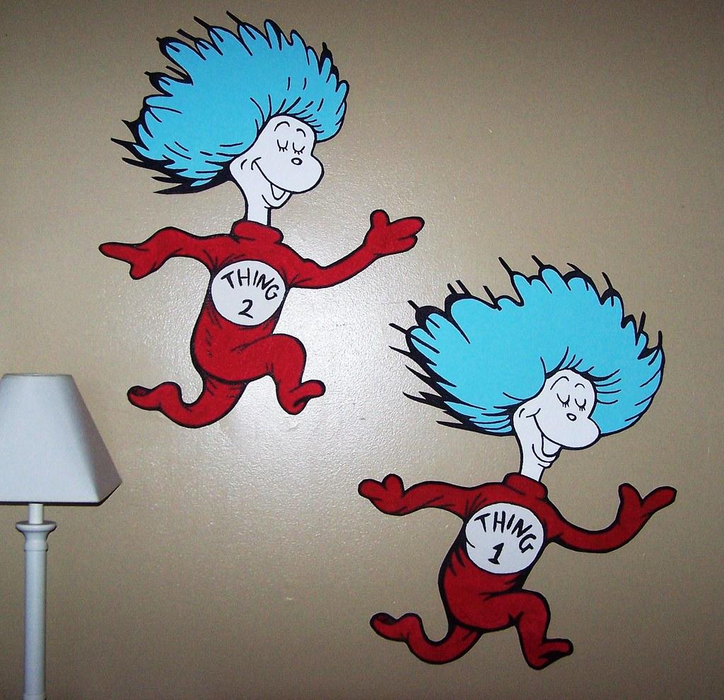 ... Dr Seuss Dr. Suess Theme Wallpaper Wall Paper Art Sticker Mural Decal  Handmade Hand Painted Part 82
