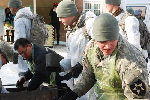 2ID troops help locals fight the cold | by U.S. Army Korea (Historical Image Archive)