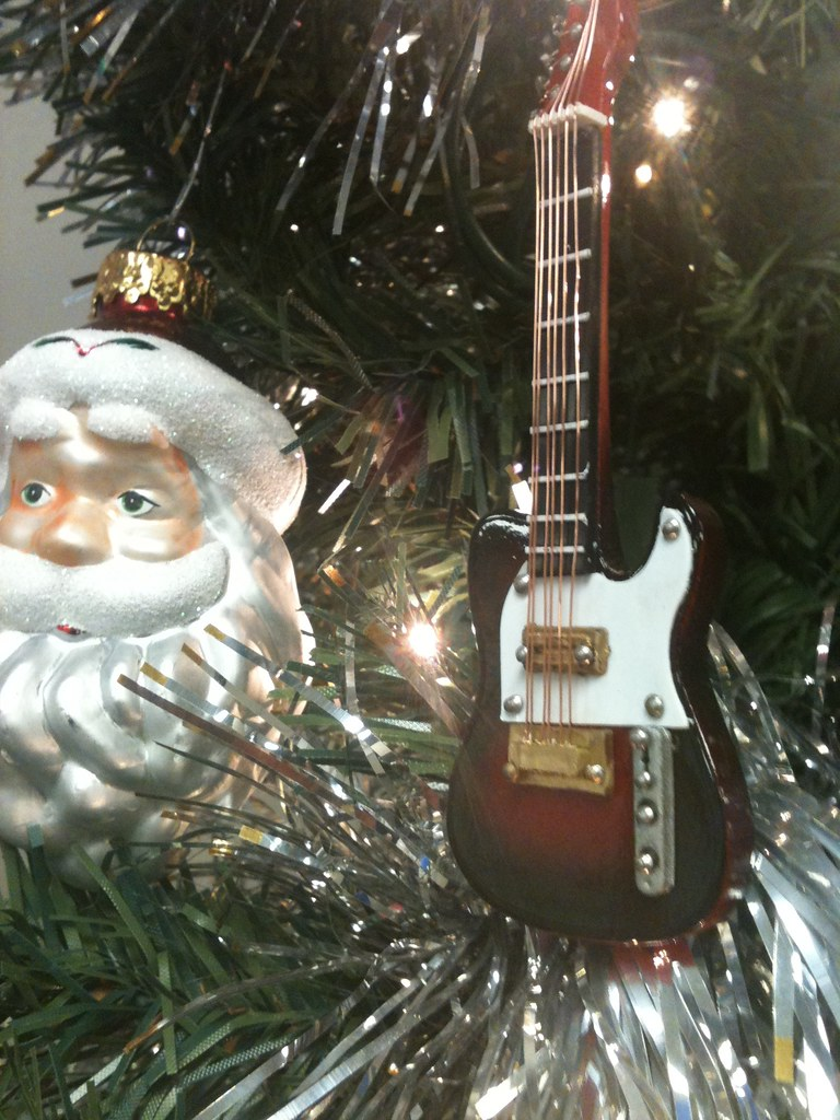 rock and roll christmas tree ornaments mini fender telec flickr