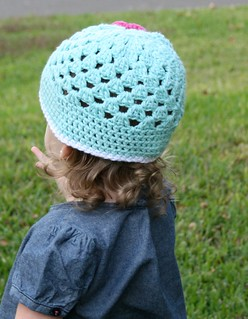 Open Weave Beanie Back | by Daisy Cottage Designs