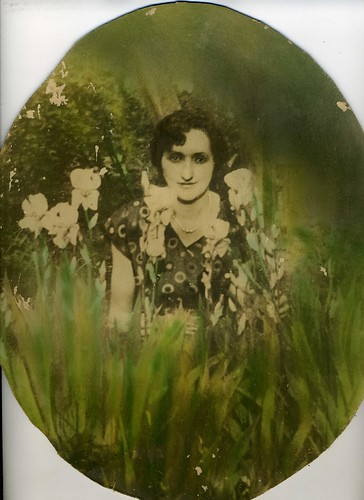 Hand-Tinted Enlargement: Brunette In The Irises | by mrwaterslide