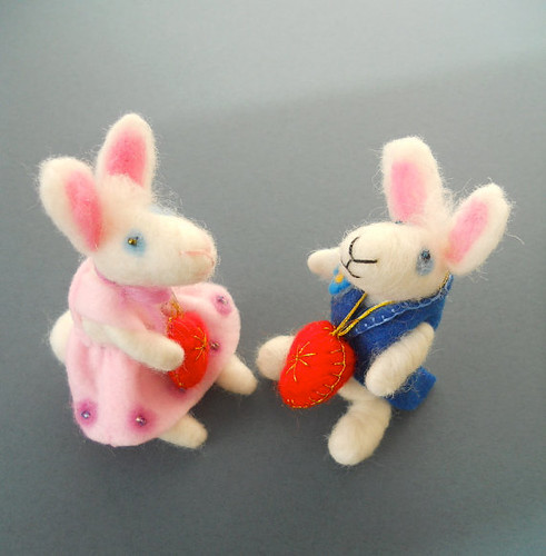 My Bunny Valentine...Needle Felted White Rabbit with Heart...Handmade Valentine Gift1 | by Soo Sun