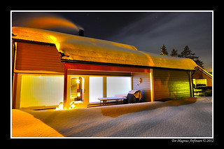 Norwegian modern house during winter time | by Tor Magnus Anfinsen