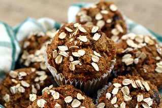 carrot raisin bran muffins | by adashofsass