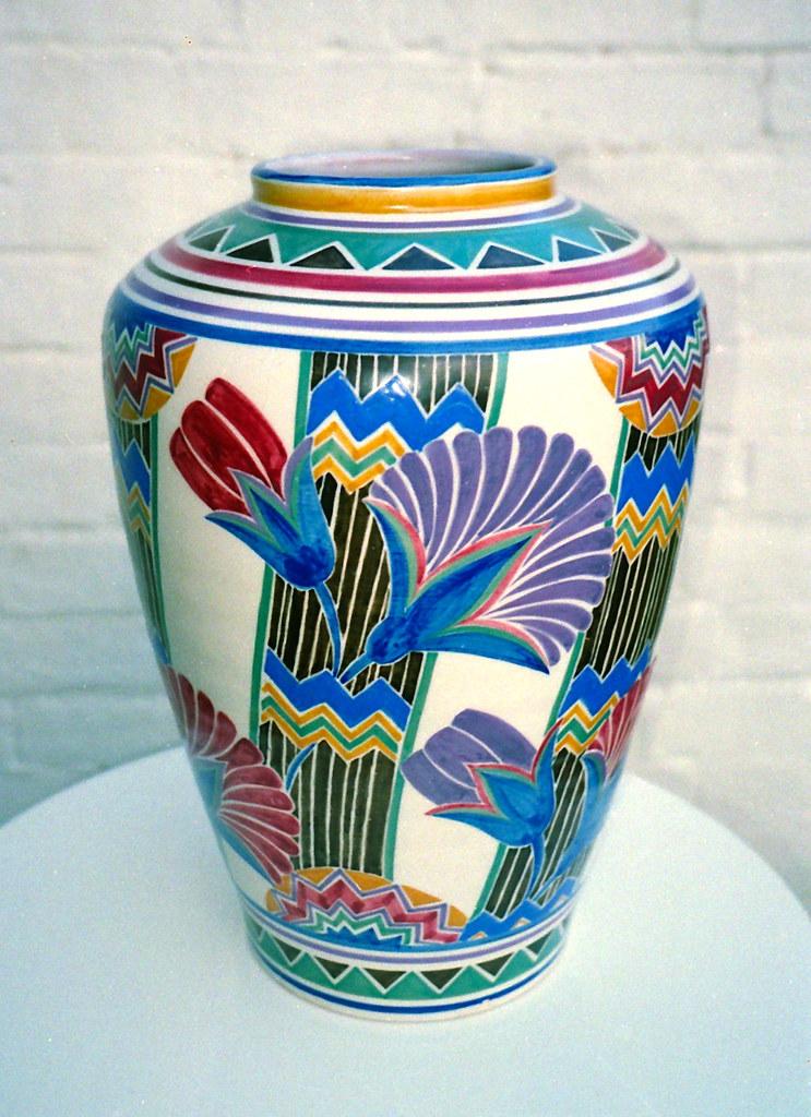 Poole Pottery Vase 1920s30s 14 Magnificent Art Deco Poo Flickr