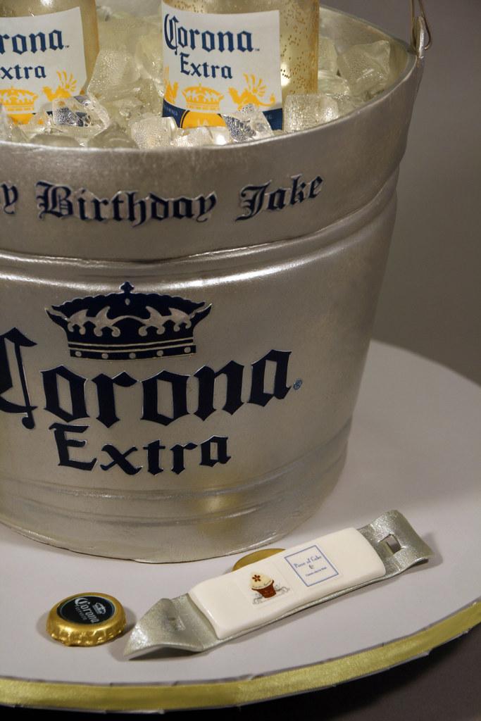 Corona Beer Bottle Bucket Birthday Cake Decorated In Fonda Flickr