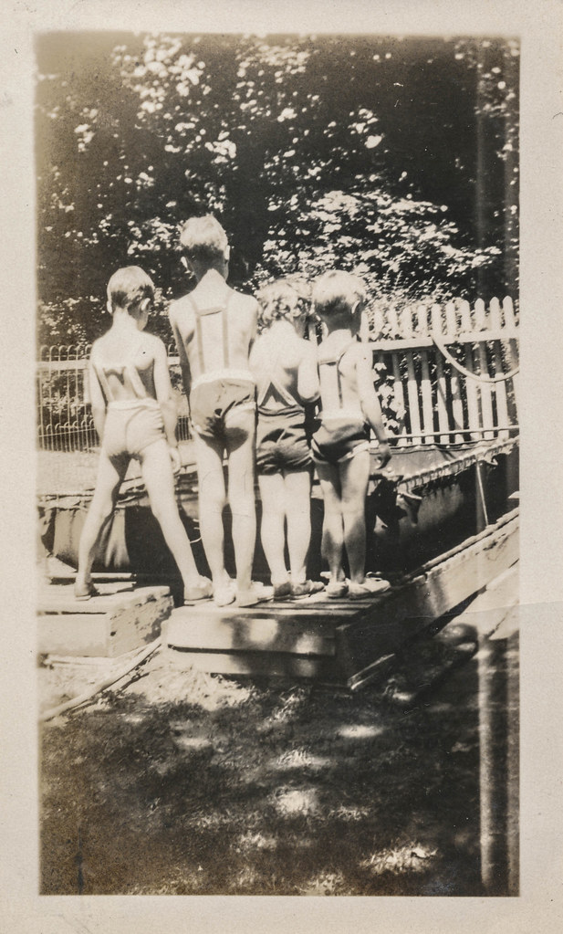 Little boys in their underwear outside | Undated. | simpleinsomnia ...
