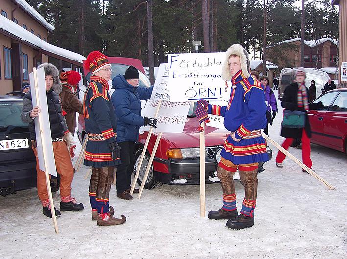 Sami People Is Protesting In Jokkmokk Sweden Samiske Demo Flickr - Jokkmokk sweden map