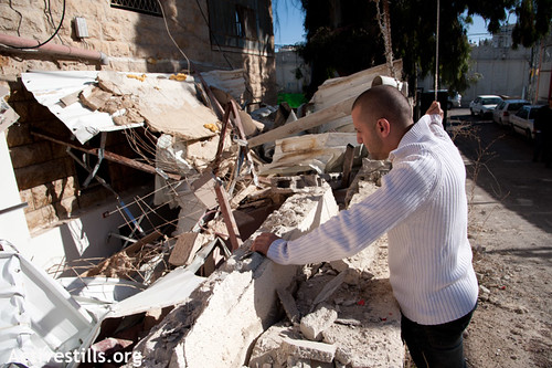 House demolition in East Jerusalem, Beit Hanina, 12.12.2011 | by Activestills