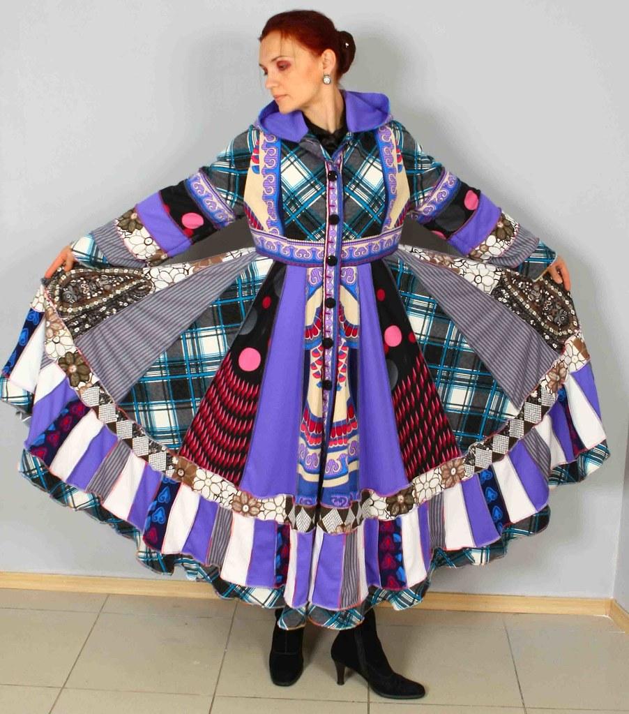 Gypsy Patchwork Sweater Dress Boho Jacket Hippie Chic Ooak… | Flickr