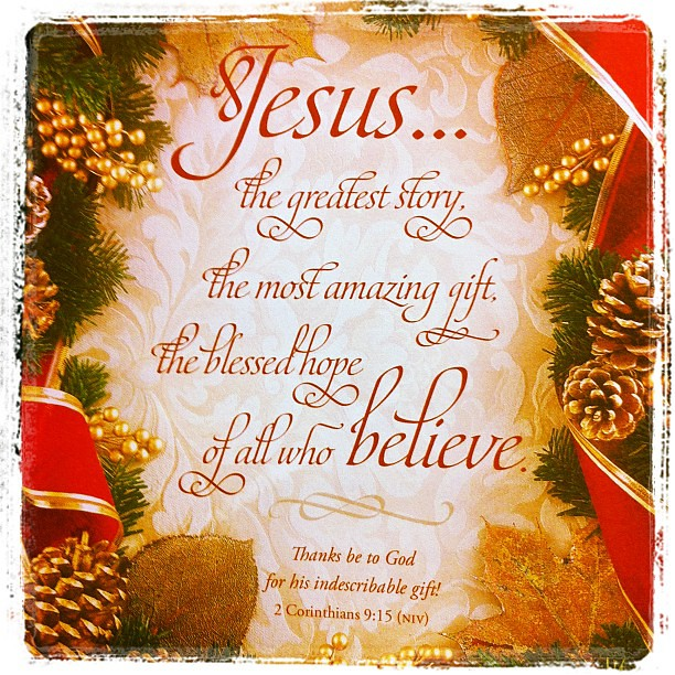 Thanks be to God for his indescribable gift! Merry Christm… | Flickr