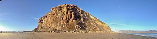 Photosynth  iPhone 4S snapshot wide-angle panorama of Morro Rock taken from the beach to the south | by mikebaird
