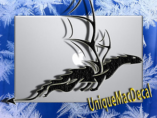 Dragon owerflying | by UniqueMacDecal