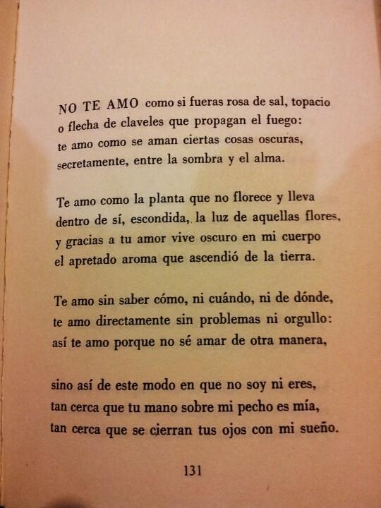 Soneto Xvii Cien Sonetos De Amor Pablo Neruda Lightbox