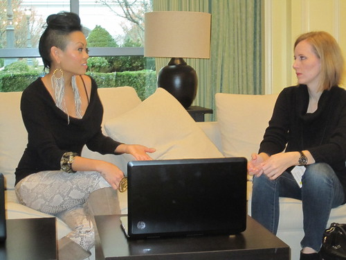 Project Runway Winner Anya Ayoung-Chee Talks with Blogger Ez Pudewa | by HP Hewlett-Packard