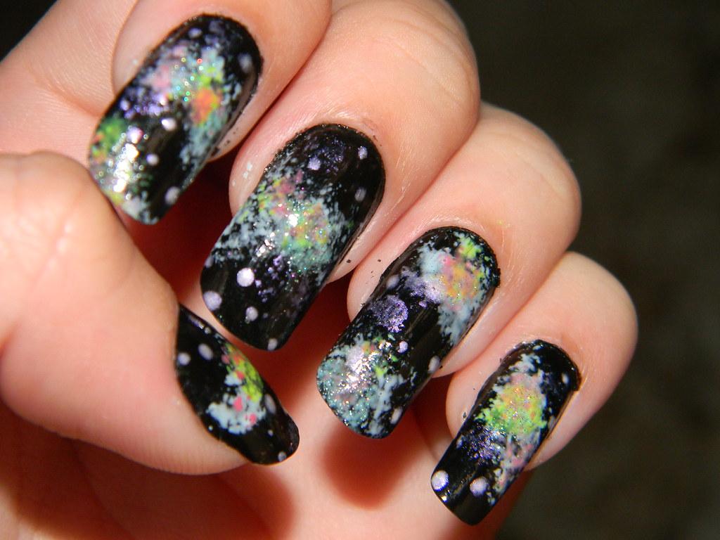 Galaxy nails   Tumblr   Bruna Caixeiro   Flickr