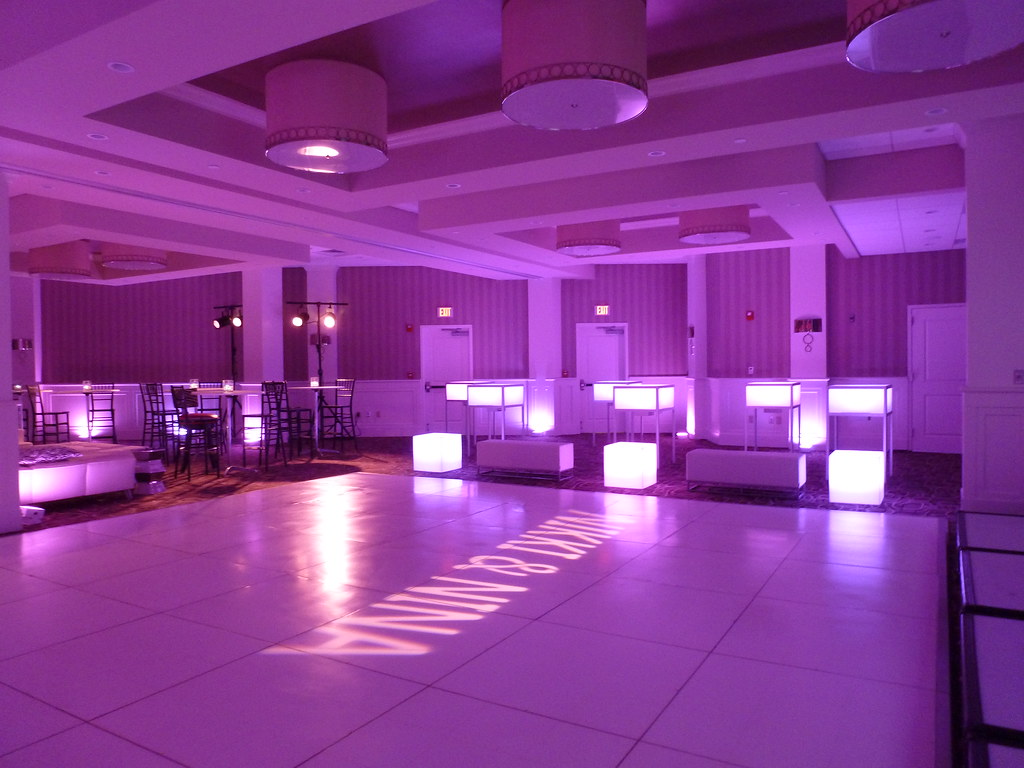 Sweet 16 club theme glow furniture dance party | Call 978-53… | Flickr