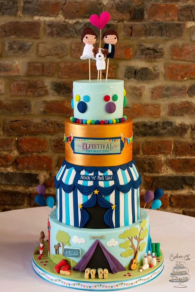 Festival Themed Wedding Cake Rock N Roll Up To El Festiv Flickr
