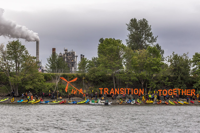 photo of fossil fuel protest