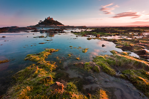 Sunset at St Michael's Mount, Marazion, Cornwall, South West England | by Anthony Lawlor