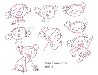 SF Girl sketches 1 | by wardomatic