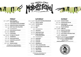 MMF2011 Playing Times | by Aunty Meredith