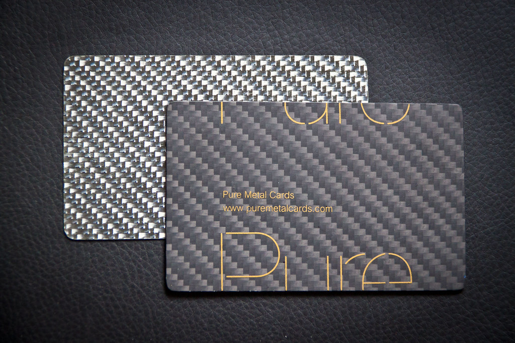 Carbon fiber and silver fiber business card by Pure Metal … | Flickr