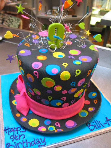 Cake Decorating Newtown : 3D Top hat shaped cake covered in black fondant decorated ...