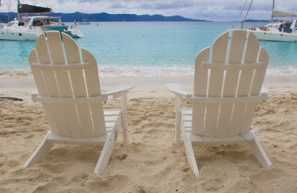 Beau ... White Beach Chairs In Virgin Islands | By Kenteegardin