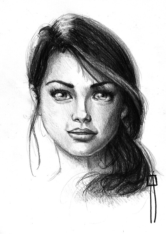 By rafanav female face drawing made with pencil by rafanav