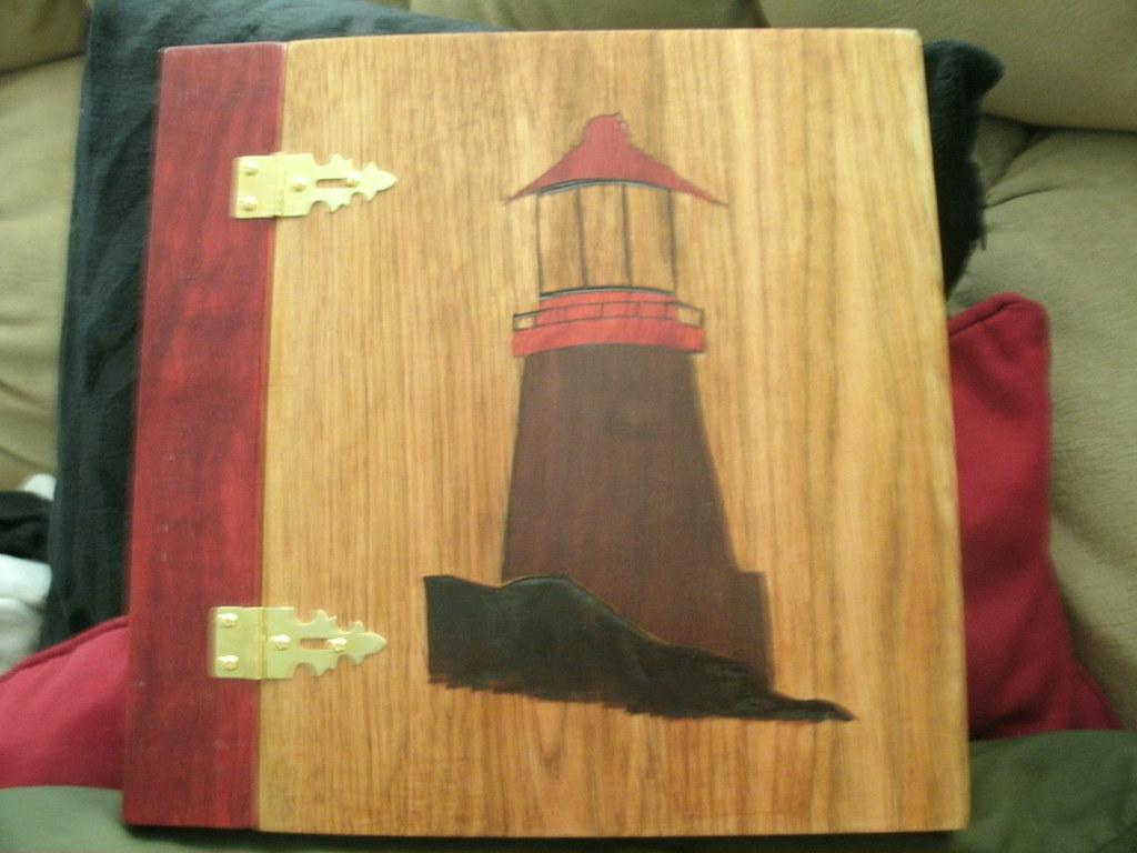 Wood Scrapbook Album Lighthouse Ge Digital Camera Bill Custer